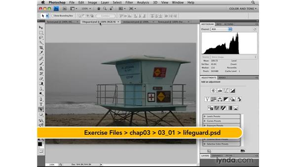 Reading the Histogram panel: Photoshop CS4: Image Adjustments in Depth
