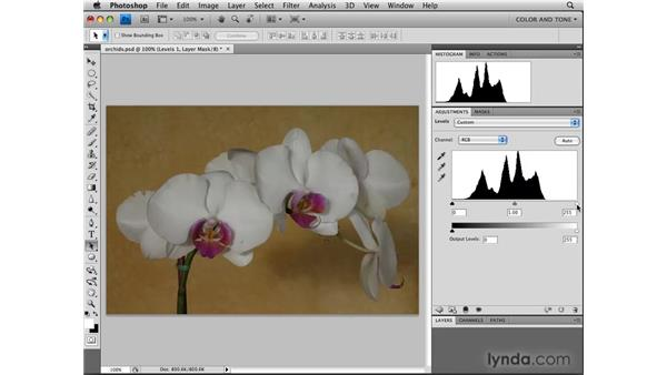 Using the Levels adjustment for tonal corrections: Photoshop CS4: Image Adjustments in Depth