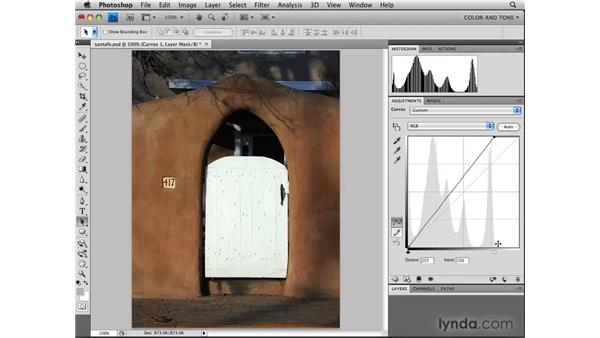 Using the Curves adjustment for exposure: Photoshop CS4: Image Adjustments in Depth