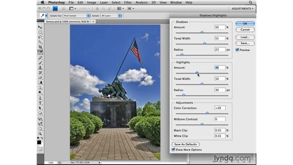 Applying Shadow/Highlight nondestructively: Photoshop CS4: Image Adjustments in Depth