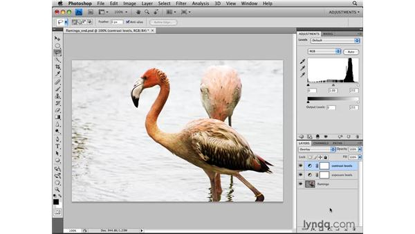 Using adjustment layers with blend modes: Photoshop CS4: Image Adjustments in Depth