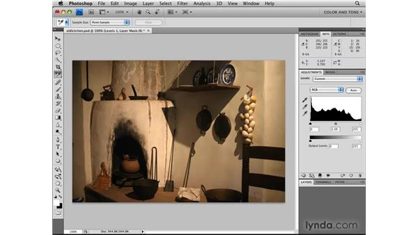 Using color samplers and the Info panel: Photoshop CS4: Image Adjustments in Depth
