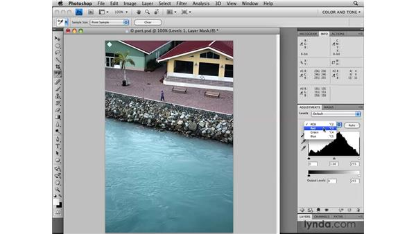 Using Levels channels for color correction: Photoshop CS4: Image Adjustments in Depth
