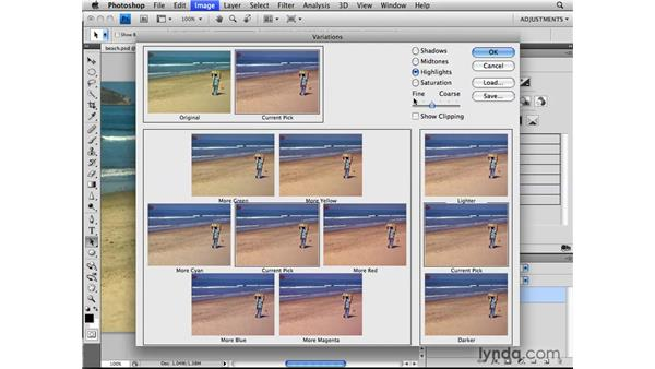 Making Variations adjustments: Photoshop CS4: Image Adjustments in Depth