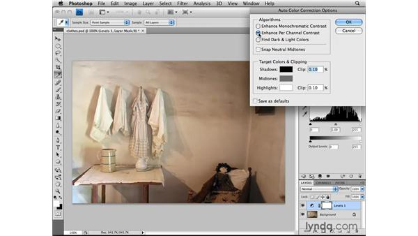 Using the auto-correction features: Photoshop CS4: Image Adjustments in Depth