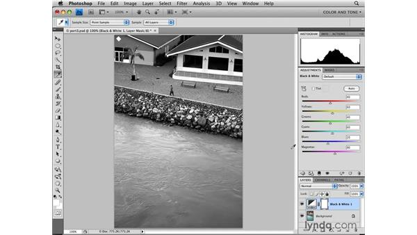 Applying Black & White adjustments: Photoshop CS4: Image Adjustments in Depth
