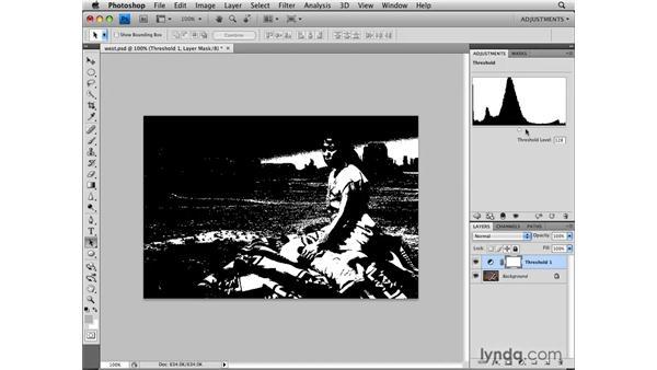 Understanding the Threshold adjustment: Photoshop CS4: Image Adjustments in Depth
