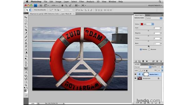 Applying a Selective Color adjustment: Photoshop CS4: Image Adjustments in Depth