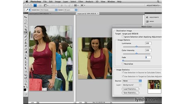 Making Match Color adjustments: Photoshop CS4: Image Adjustments in Depth