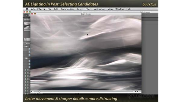 Selecting candidates: After Effects: Lighting Effects in Post