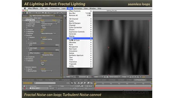 Fractal lighting: After Effects: Lighting Effects in Post