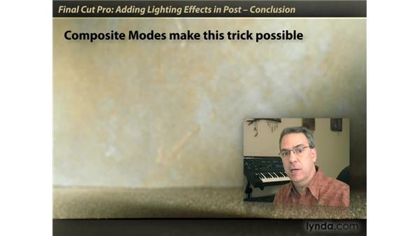 Goodbye: Final Cut Pro: Lighting Effects in Post
