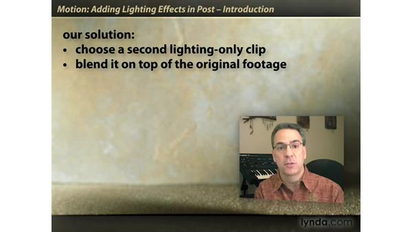 Welcome: Motion: Lighting Effects in Post