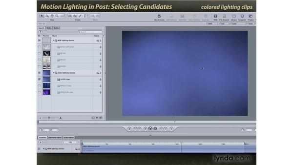 Selecting candidates: Motion: Lighting Effects in Post