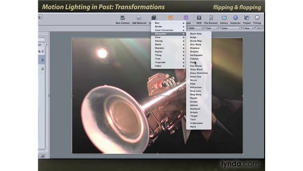 Transformations: Motion: Lighting Effects in Post