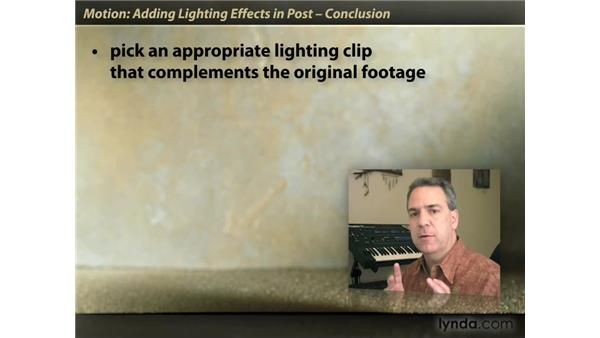 Goodbye: Motion: Lighting Effects in Post