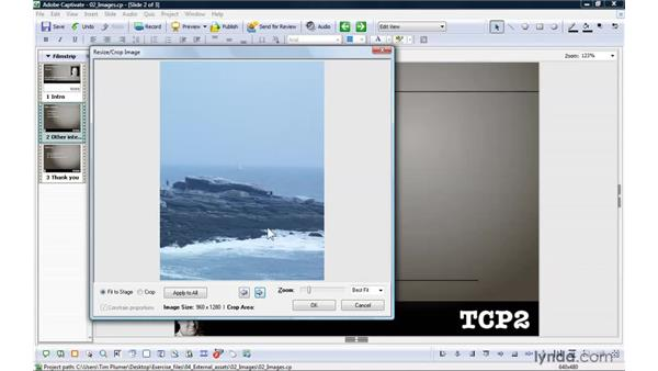Creating slideshows with images: Captivate 4 Essential Training