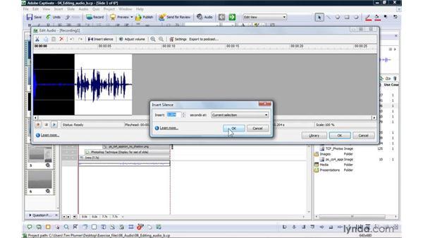 Editing audio in Captivate: Captivate 4 Essential Training