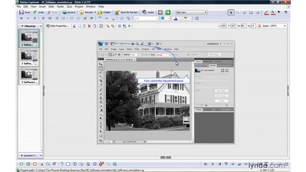 Introducing software simulations: Captivate 4 Essential Training
