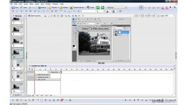Editing simulations: Captivate 4 Essential Training