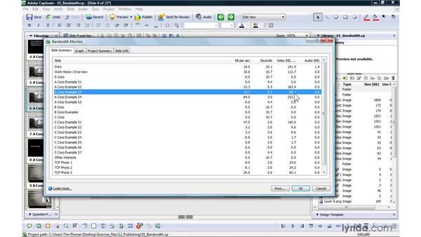 Analyzing bandwidth: Captivate 4 Essential Training
