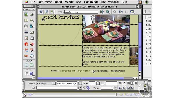 Link History : Learning Dreamweaver 4