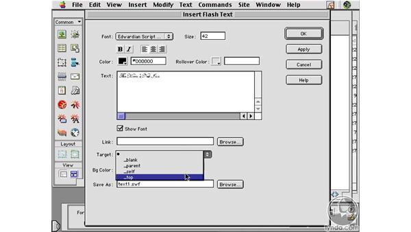 Flash Text : Learning Dreamweaver 4
