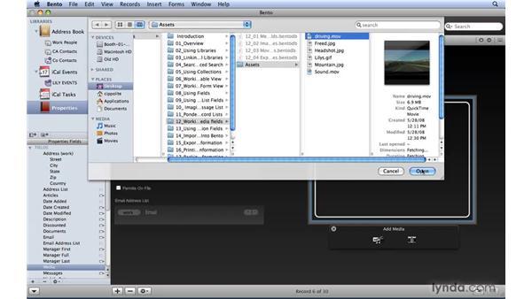 Adding Media fields: Bento 2 Essential Training