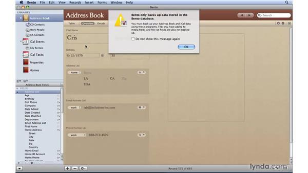 Creating Bento backup files: Bento 2 Essential Training