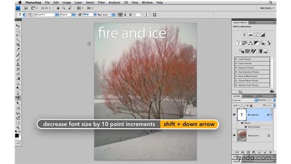 Labels and arrow keys: Photoshop CS4 Power Shortcuts