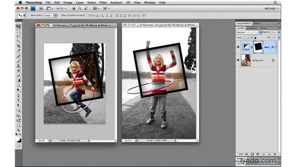 Moving layers between documents: Photoshop CS4 Power Shortcuts