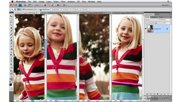 Panning and zooming all windows: Photoshop CS4 Power Shortcuts