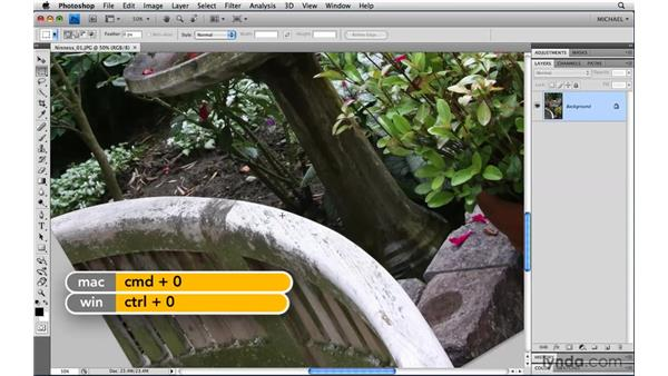 The Rotate view: Photoshop CS4 Power Shortcuts