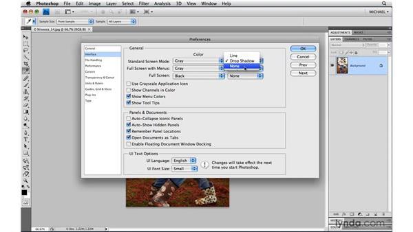 Customizing the application background: Photoshop CS4 Power Shortcuts
