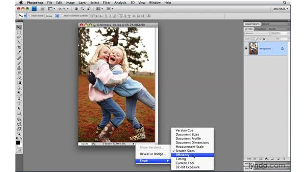 Status bar tricks: Photoshop CS4 Power Shortcuts