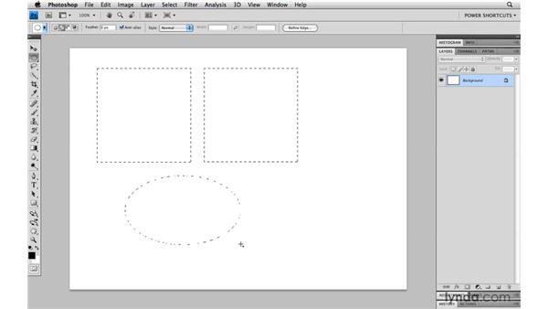 Selection modifiers: Photoshop CS4 Power Shortcuts