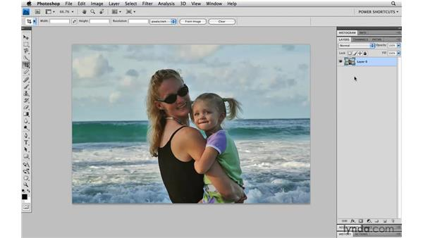 The Hide and Delete options in the Crop tool: Photoshop CS4 Power Shortcuts
