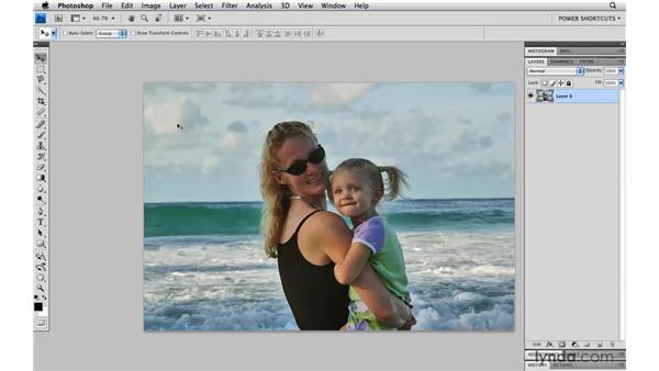Bringing back hidden pixels with Reveal All: Photoshop CS4 Power Shortcuts