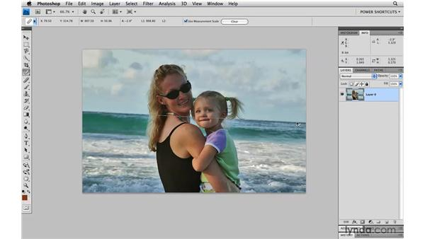 Straightening a crooked image: Photoshop CS4 Power Shortcuts