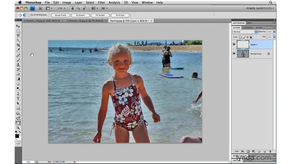 Saving file size when healing and cloning: Photoshop CS4 Power Shortcuts