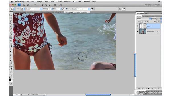 Clone first, then heal: Photoshop CS4 Power Shortcuts