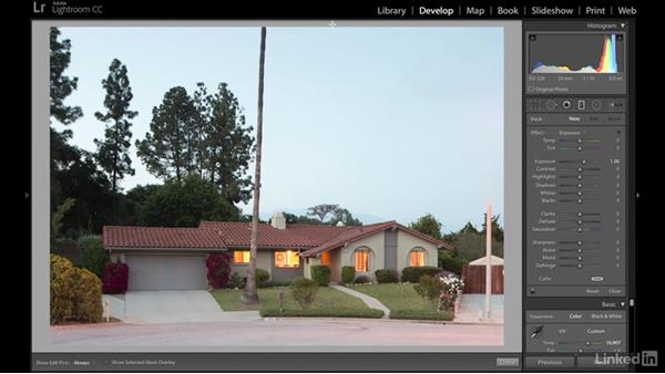 Editing a twilight front exterior image: Real Estate Photography: Exterior at Twilight