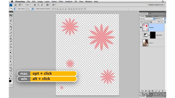 Using fill commands instead of the Bucket tool: Photoshop CS4 Power Shortcuts