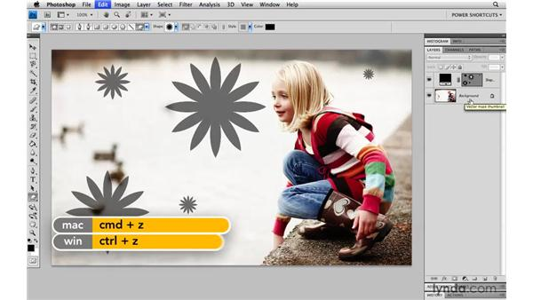 Add a new shape to an existing shape layer: Photoshop CS4 Power Shortcuts