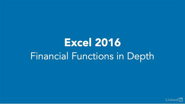 Disclaimer: Excel 2016: Financial Functions in Depth