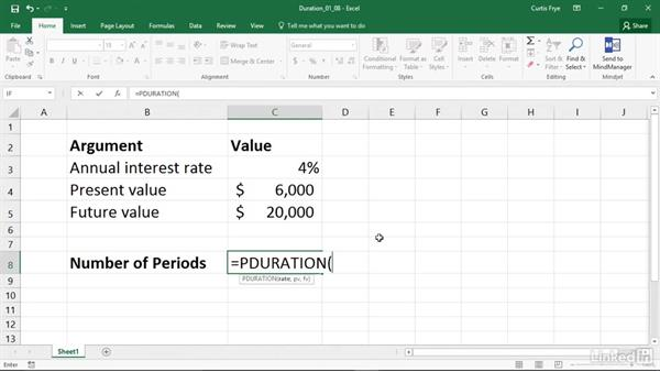 NPER: Calculating the number of periods in an investment: Excel 2016: Financial Functions in Depth