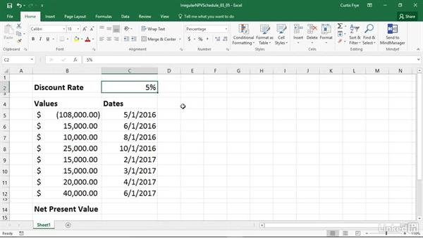 XNPV: Calculating net present value given irregular inputs: Excel 2016: Financial Functions in Depth