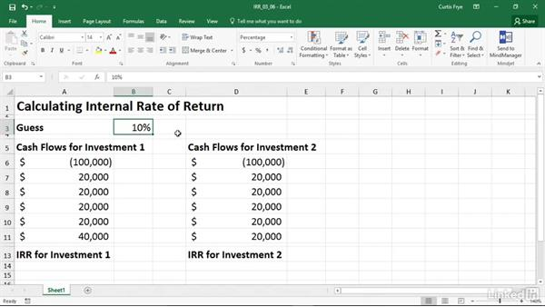 IRR Calculation Formula