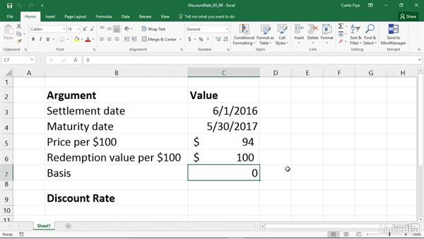 RRI: Calculating the interest rate for the growth of an investment: Excel 2016: Financial Functions in Depth