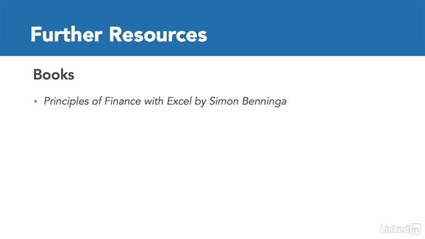 Additional resources: Excel 2016: Financial Functions in Depth